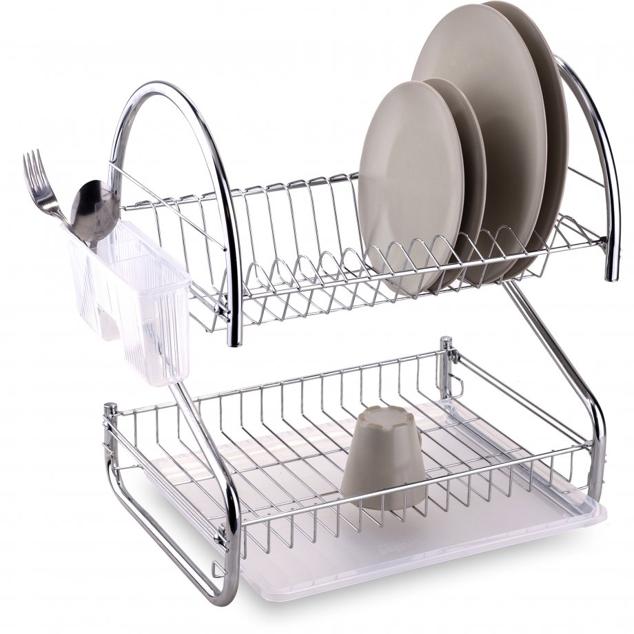 KB018 Dish Drainer Two Tiers / Chrome