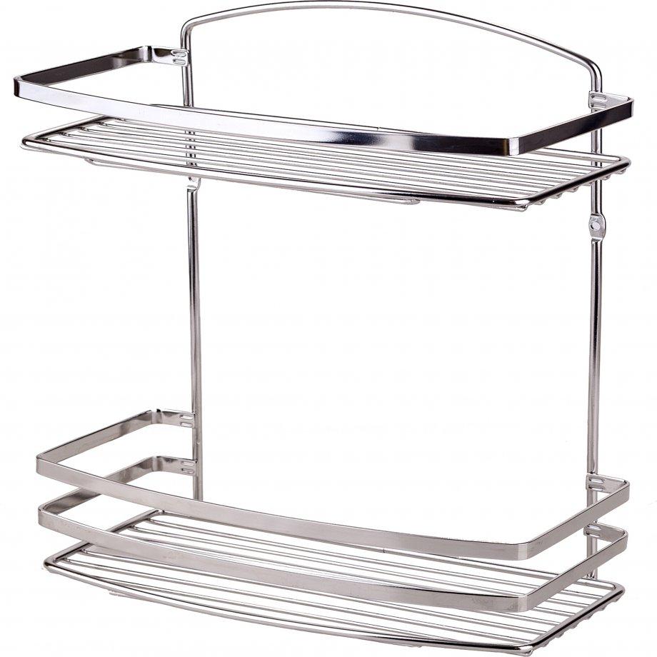 BK085SS Двухслойная полка для ванной комнаты / Hержавеющая сталь