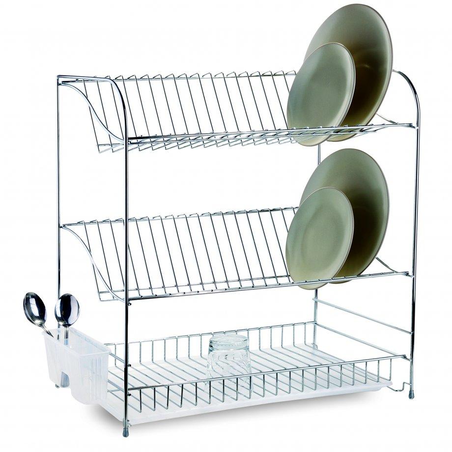 KB017 Cушилка Для Посуды 3 ярусная / хром