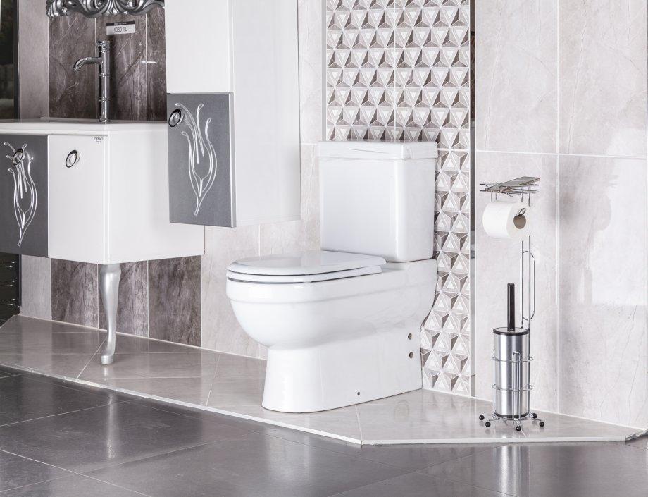 MG096 Tuvalet Fırçalığı ve Yedekli Tuvalet Kağıtlığı / Krom