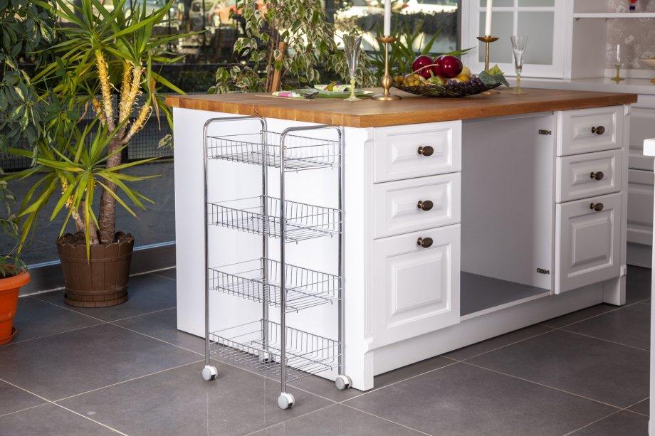 MG004 Basket Four Tiers, Foldable / Chrome