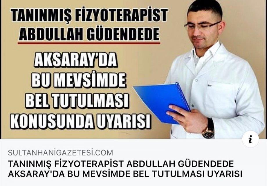 tanınmış fizyoterapist abdullah güdendede bu mevsimde bel tutulması uyarısı