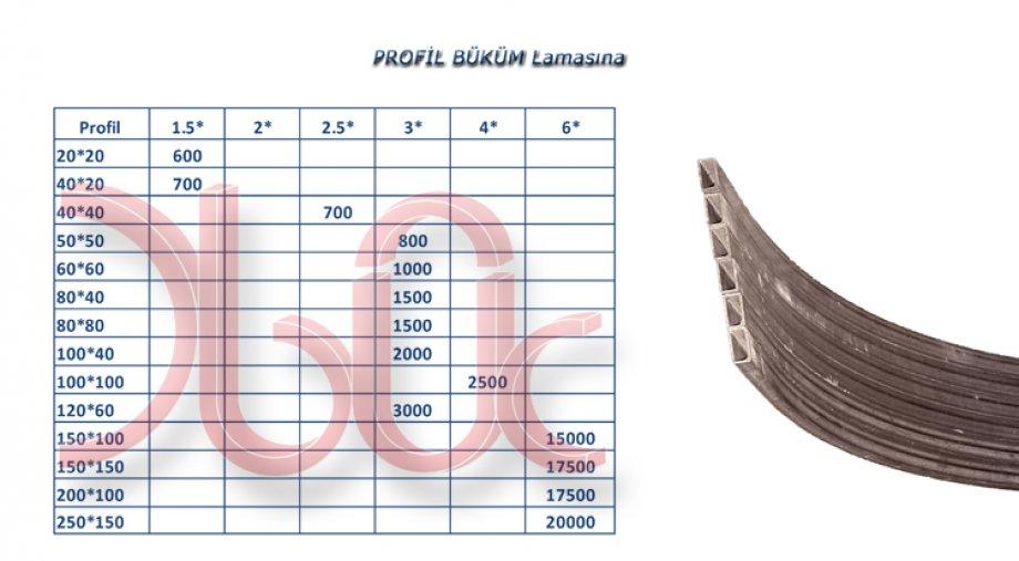 Kutu Profil Büküm-LAMASINA