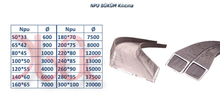 NPU Profil Büküm X-X KILICINA