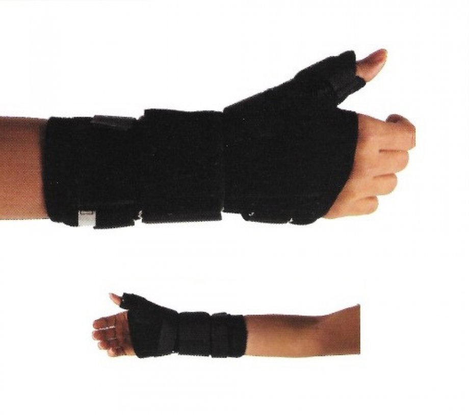 AB - 4226 ADELBRAND Wrist Immobilization Splint with Abducted Thumb ( made of Mesh Fabric )