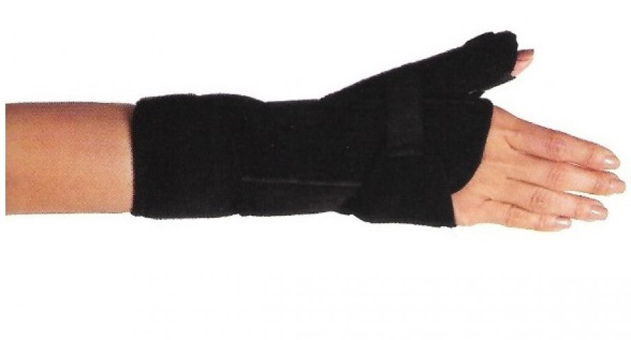 AB - 4227 ADELBRAND Neoprene Wrist Immobilization Splint with Abducted Thumb