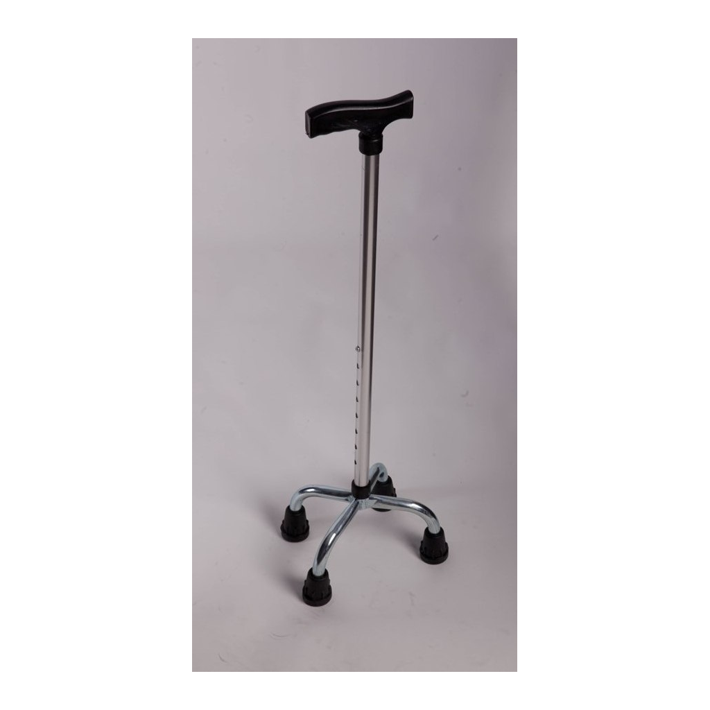 AB - 9004 ADELBRAND Aluminum Quad Pod Walking Stick - Height Adjustable