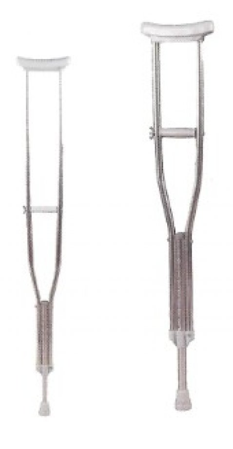 AB - 90051 ADELBRAND Aluminum Crutches - Pair and Height Adjustable