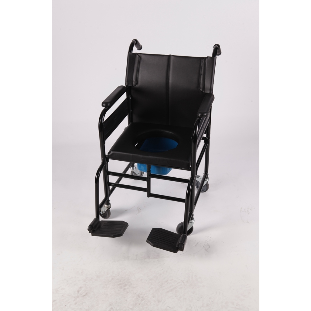 AB - 9016 ADELBRAND Homecare Patient Transport Trolley with Integrated Commode