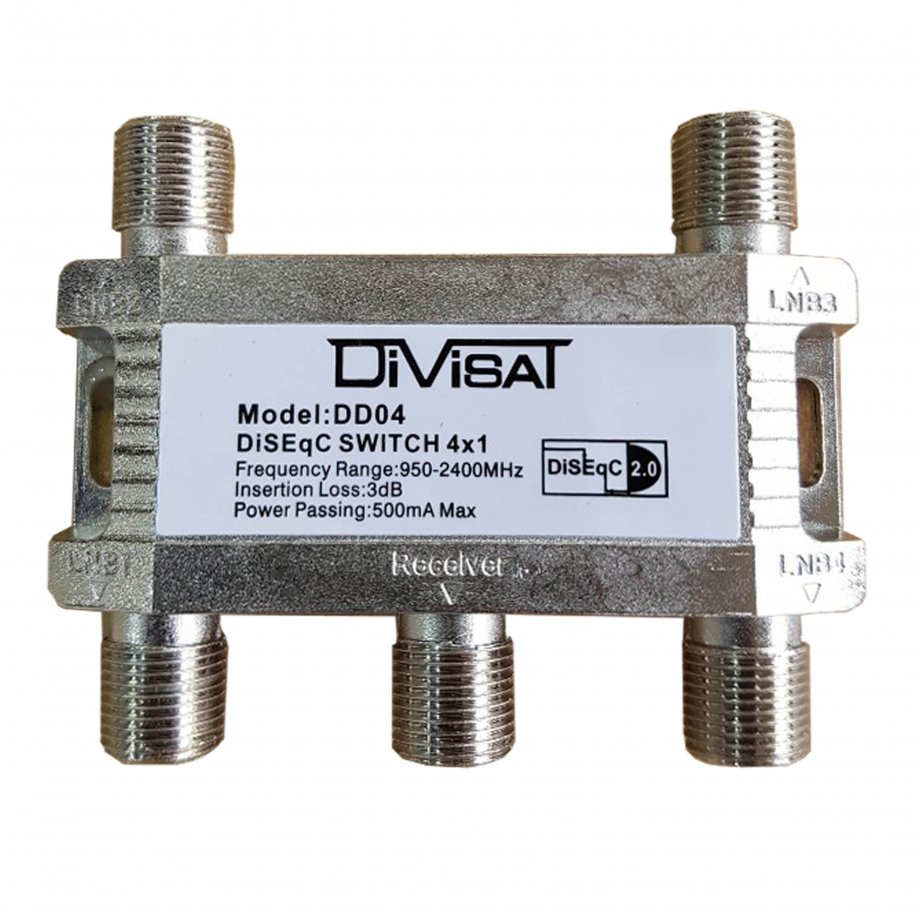 DİVİSAT 4x1 Disecq Switch