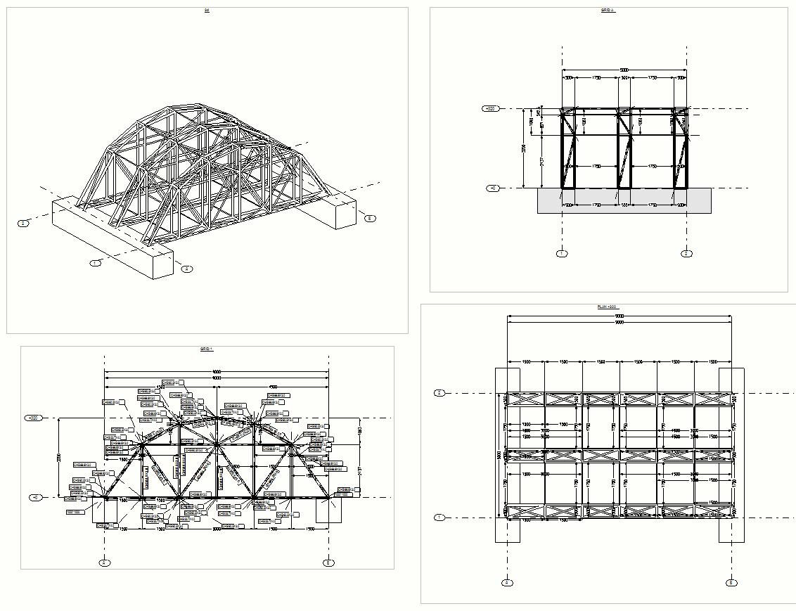 Tarihi Köprü Askıya Alma Çelik Konstrüksiyonu