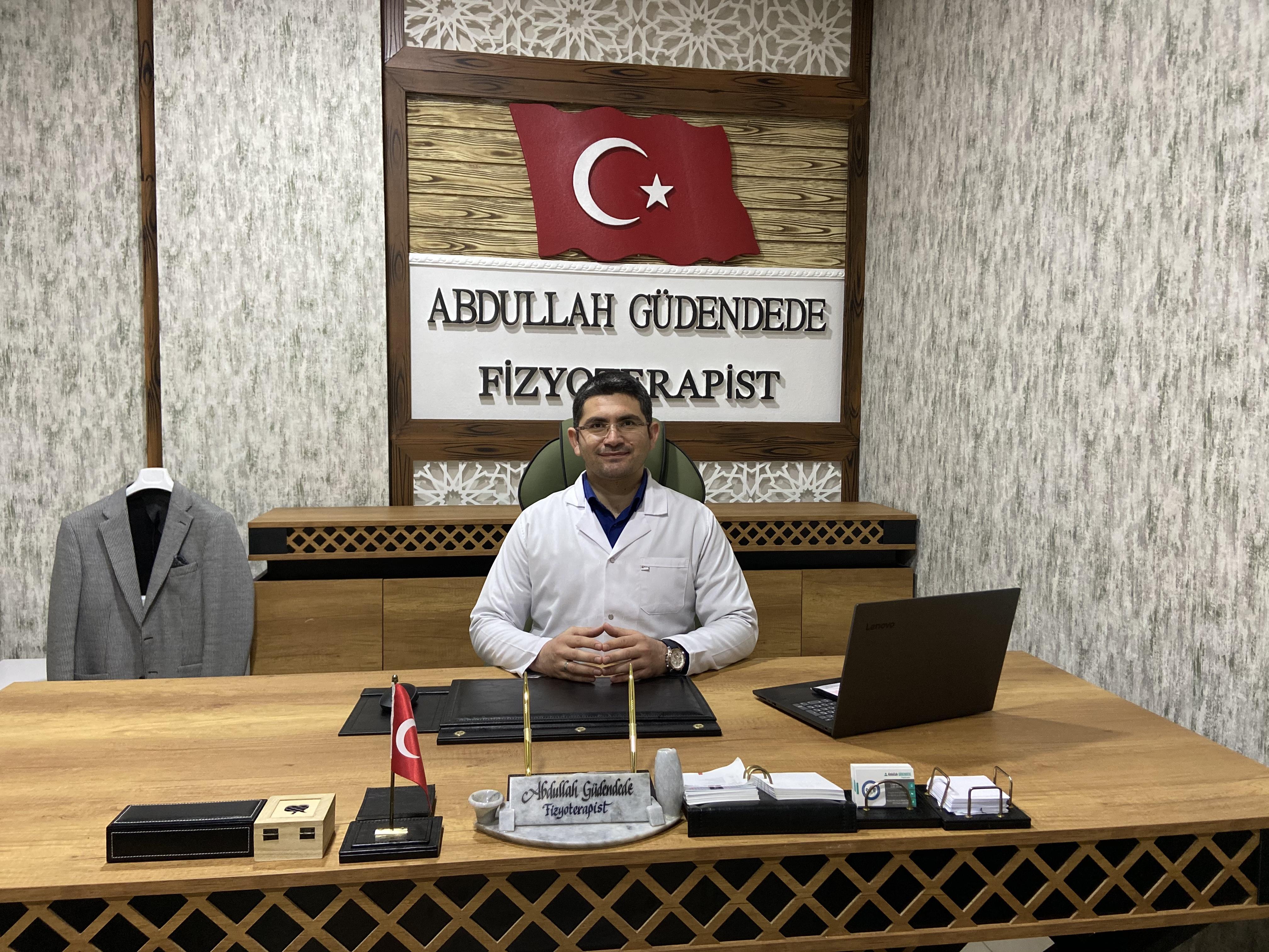 Basın açıklaması Tanınmış fizyoterapist Abdullah Güdendede
